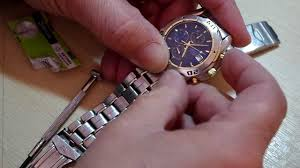 fitting a new battery in an accurist chronograph watch fitting a new battery in an accurist chronograph watch