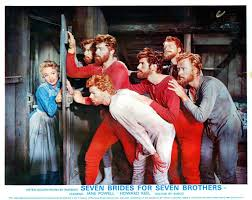 jane powell opens a door to find jeff richards russ tamblyn and the rest of