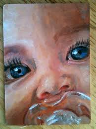 painting baby blue eyes