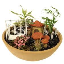 arcadia garden products hamlet polyresin fairy garden kit 11 piece fg01 the home depot