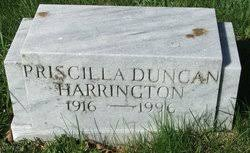 Priscilla Duncan Harrington (1916-1996) - Find A Grave Memorial