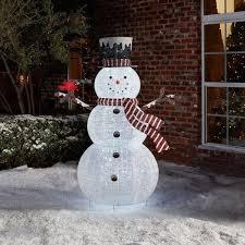 72 Light Up Snowman Outdoor Christmas Decoration Pop Up Snowman Holiday Yard