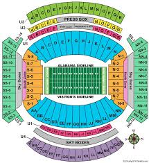 Bryant Denny Virtual Seating Chart Wells Fargo Seating Chart