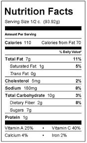 creamy coleslaw nutrition facts