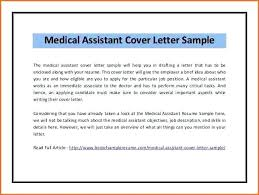 Entry Level Medical Assistant Cover Letter Extraordinary Cover Letter Template For Medical Assistant Resume Free Examples