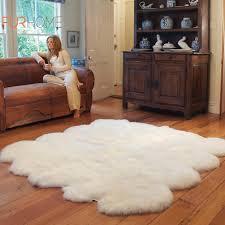 sheepskin rug 8 pcs white ivory