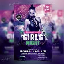 girls night party psd flyer template net present