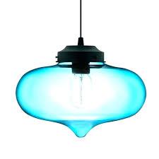 navy pendant lamp post blue light drum lighting fixtures mini fixture glass shades lights uk