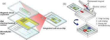 Lab On A Chip Illustration Of A Disposable Polymer Lab On A Chip System With An