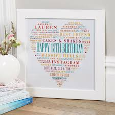 personalised 18th birthday present for s