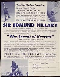 EVEREST EPHEMERA: SAN FRANCISCO LECTURE PROGRAM HILLARY-LOWE-EVANS March 3  & 10, 1954, OTHER ITEMS LISTED BELOW (Everest Ephemera) :: Chessler Books