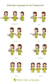 Baby Sign Language Chart Baby Signs To Be Playground Ready