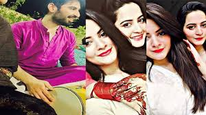 aiman khan and muneeb butt first dholki aiman khan and muneeb butt first dholki