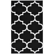 garland rug large quatrefoil black white 5 ft x 7 ft area rug