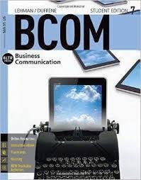 Business Communication (Bcm 247)
