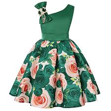 Cichic Girls Dresses 2019 Flower Girl Wedding Dress Elegant Dresses For Party 2 9 Years Green