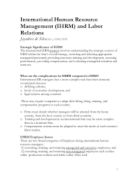 Ihrm Labour Relations