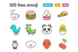 The largest packs of icons. 100 Cute Emojis Graphic By Creative Fabrica Freebies Creative Fabrica In 2020 Free Emoji Emoji Svg Emoji