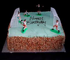 Football Pitch Buttercream Cake Square Mannings Bakery