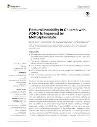 postural balance performance of children with adhd with and without cation a quanative approach request pdf