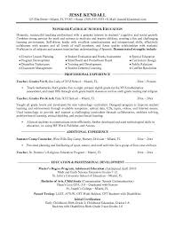 Teachers Resume Free Examples Awesome Collection Of Catholic School