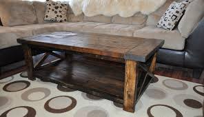 Learn how to build this rustic wood farmhouse coffee table at  LoveGrowsWild.com! Click