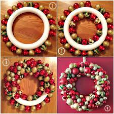 Easy DIY Ornament Wreath For Christmas christmas christmas ornaments  christmas crafts christmas decorations christmas decor christmas wreaths  christmas ...