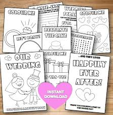 Kids Wedding Colouring Activity Book Instant Download Pdf