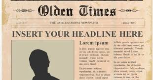 The Times Newspaper Template Newspaper Template Olden Times Magdalene Project Org