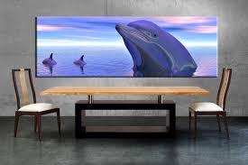 1 piece canvas wall wildlife art dining room pictures wildlife large pictures  on dolphin canvas wall art with 1 piece blue dolphin canvas wall art
