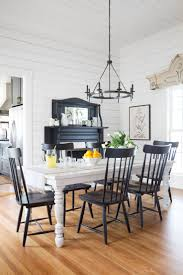Kitchen: Farmhouse Dining Rooms House Black And White Room