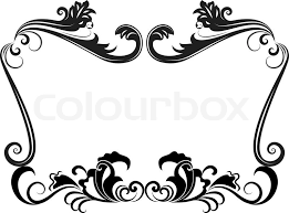 vintage black frame. Black And White Vintage Floral Frame Template. | Stock Vector Colourbox Black