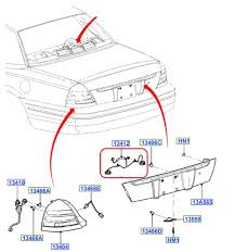new oem rear license plate light wiring & socket grand marquis how to ground license plate light at License Plate Light Wiring Diagram