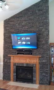 Faux Stone Fireplace Surround Kits  Round DesignsFake Stone Fireplace