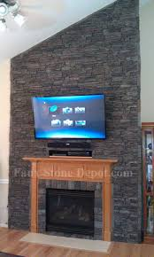 perfect fake stone fireplace