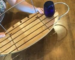 umbra aquala bamboo and chrome bathtub wine book tablet tray caddy natural