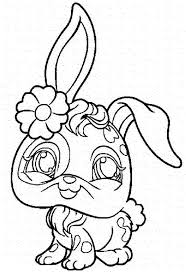 The Littlest Pet Shop Coloring Pages Bunny Download For Kids 2018