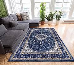 djemila medallion blue vintage persian fl oriental area rug 5 x 7 5 3