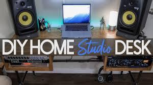 ultimate diy home studio desk setup tour
