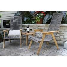 largent 3 piece teak plete patio set