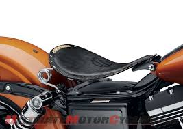 harley bobber solo seat released leather over steel