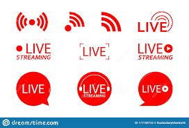 Live Streaming Logo - Red Vector Design Element With Play Button For News  And TV Or Online Broadcasting. Vector Illustration Stock Vector -  Illustration of banner, modern: 177195722