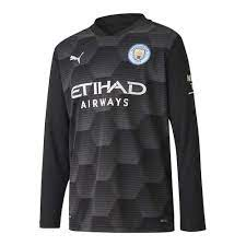 2020-2021 Man City Home Goalkeeper Shirt (Black) - Kids [75710320] -  Uksoccershop