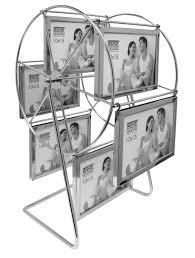 photo carousel in silver metal