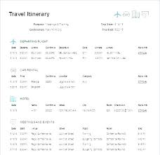 Free Trip Itinerary Planner Travel Itinerary Example Scsllc Co