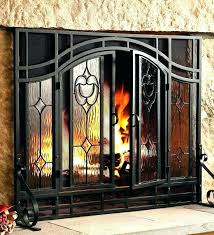 painting brass fireplace doors metal cover how to paint plated old pa