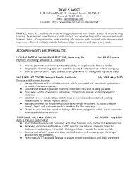 Insurance Underwriter Resume Sample Administrative Law