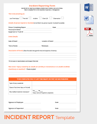 24+ Incident Report Template - Free Sample, Example, Format | Free ...
