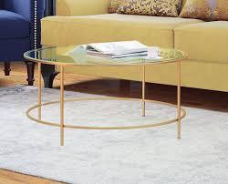 coffee table amazing round wayfair glass coffee table round glass