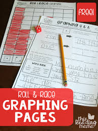 Roll and Race Graphing Worksheets - This Reading Mama